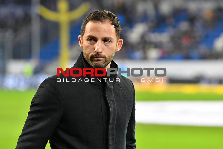 01.12.2018, wirsol Rhein-Neckar-Arena, Sinsheim, GER, 1 FBL, TSG 1899 Hoffenheim vs FC Schalke 04, <br /> <br /> DFL REGULATIONS PROHIBIT ANY USE OF PHOTOGRAPHS AS IMAGE SEQUENCES AND/OR QUASI-VIDEO.<br /> <br /> im Bild: Domenico Tedesco (Trainer, FC Schalke 04)<br /> <br /> Foto © nordphoto / Fabisch