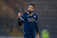 1st November 2019; Dens Park, Dundee, Scotland; Scottish Championship Football, Dundee Football Club versus Greenock Morton; Kane Hemmings of Dundee celebrates at the end of the match  - Editorial Use