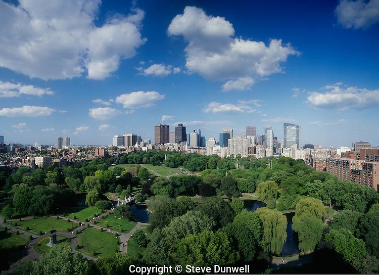 The Public Garden & Boston Common, panorama from the Ritz Taj Boston, MA