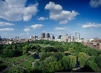 The Public Garden & Boston Common, panorama from the Ritz Taj Boston, MA