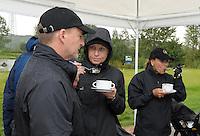 EAGLES GOLF CHARITY GOLF CUP - Golfpark Seehausen bei Leipzig - im Bild: Tennisstar Anke Huber - Handicap 15,1 - neben Ireen Sheer beim Süppchen am Tee 1 . Foto: Norman Rembarz..Norman Rembarz , Autorennummer 41043728 , Holbeinstr. 14, 04229 Leipzig, Tel.: 01794887569, Hypovereinsbank: BLZ: 86020086, KN: 357889472, St.Nr.: 231/261/06432 - Jegliche kommerzielle Nutzung ist honorar- und mehrwertsteuerpflichtig! Persönlichkeitsrechte sind zu wahren. Es wird keine Haftung übernommen bei Verletzung von Rechten Dritter. Autoren-Nennung gem. §13 UrhGes. wird verlangt. Weitergabe an Dritte nur nach  vorheriger Absprache..