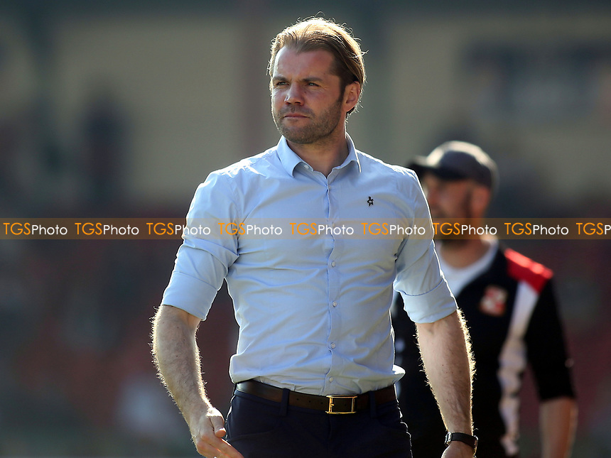 MK Dons Manager, Robbie Nelson during Swindon Town vs MK Dons, Sky Bet EFL League 1 Football at the County Ground on 8th April 2017