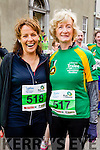 Sandra Leahy and Martina McDonnell  at the start of the Kerry's Eye Tralee, Tralee Half Marathon on Saturday.