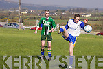 Fenit Samphires Mainebank in their Premier League clash in Keel on Sunday..