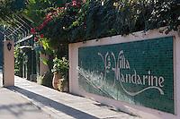 Afrique/Afrique du Nord/Maroc/Rabat: Hotel - Maison d'Hote Villa Mandarine l 'entrée de l'hotel et du parc