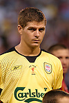 3 August 2004: Steve Gerrard. Liverpool of the English Premier League defeated AS Roma of Italy's La Liga 2-1 at Giants Stadium in the Meadowlands Complex in East Rutherford, NJ in a ChampionsWorld Series friendly match..