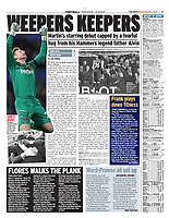 Daily Express - 02-Dec-2019 - 'WEEPERS KEEPERS' - Photo by Rob Newell (Camerasport via Getty Images)