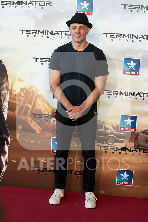 Actor Roberto &Aacute;lamo attends to the premiere of Terminator Genesis at Kinepolis Cinema in Madrid, Spain. July 08, 2015.<br />  (ALTERPHOTOS/BorjaB.Hojas)