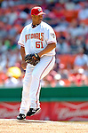 5 September 2005: Livan Hernandez, pitcher for the Washington Nationals, on the mound against the Florida Marlins. The Nationals defeated the Marlins 5-2 at RFK Stadium in Washington, DC, maintaining a close race for the NL Wildcard spot. Mandatory Photo Credit: Ed Wolfstein.