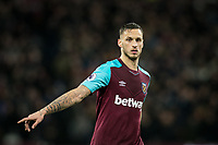 Marko Arnautovic of West Ham United during the Premier League match between West Ham United and Arsenal at the Olympic Park, London, England on 13 December 2017. Photo by Andy Rowland.