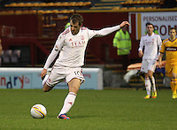 Niall McGinn in the Motherwell v Aberdeen, Clydesdale Bank Scottish Premier League match at Fir Park, Motherwell on 26.12.12.