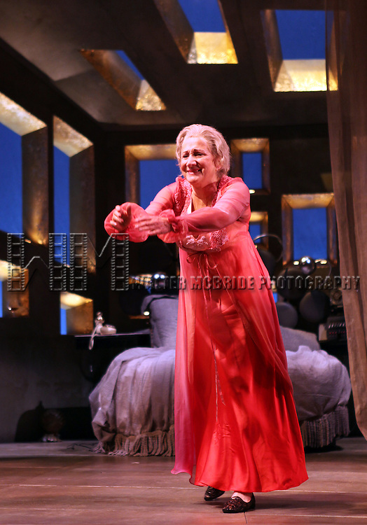 Olympia Dukakis.during the Curtain Call for the Off-Broadway Roundabout Theatre Company Production of  'The Milk Train Doesn't Stop Here Anymore' at the Laura Pels Theatre in New York City..