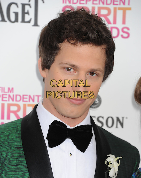Andy Samberg.2013 Film Independent Spirit Awards - Arrivals Held At Santa Monica Beach, Santa Monica, California, USA,.23rd February 2013..indy indie indies indys portrait headshot corsage flower green tuxedo tux jacket bow tie .CAP/ROT/TM.©Tony Michaels/Roth Stock/Capital Pictures