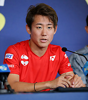 2nd January 2020; RAC Arena , Perth, Western Australia, Australia; ATP Cup Team Press conferences, Japan; Yoshihito Nishioka of Japan speaks at the team press conference - Editorial Use