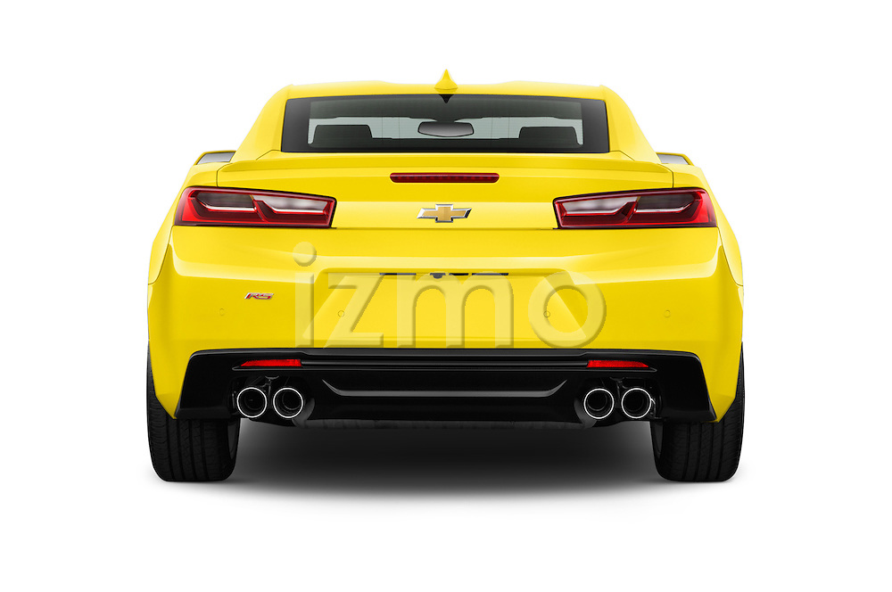 Straight rear view of 2016 Chevrolet CAMARO 2LT 2 Door coupe Rear View  stock images
