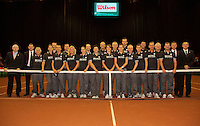 14-sept.-2013,Netherlands, Groningen,  Martini Plaza, Tennis, DavisCup Netherlands-Austria, Doubles,  Umpires <br /> Photo: Henk Koster