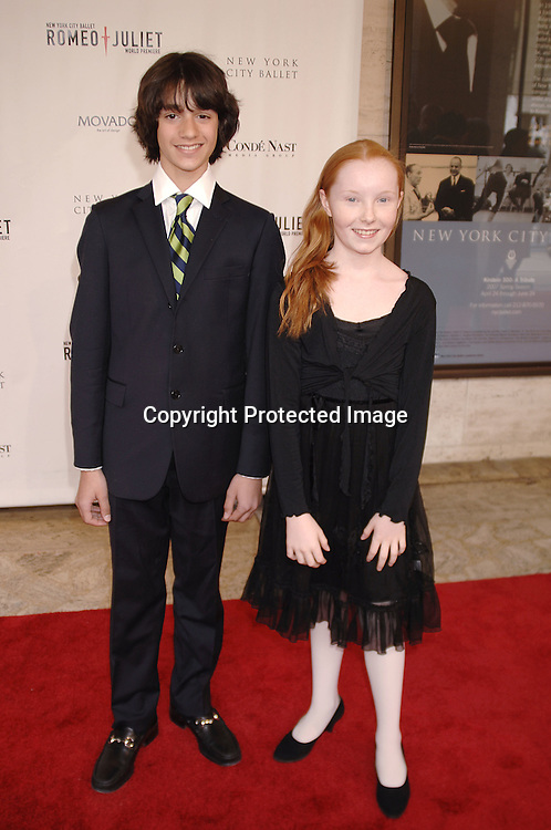 William rosenberg and Arden Pickoff-Rafferty, both ballet dancers in the company..arriving at The New York City Ballet Annual Spring Gala ..on May 1, 2007 at The New York State Theatre. The World Premiere of Romeo and Juliet was danced. ..Robin Platzer, Twin Images......212-935-0770..