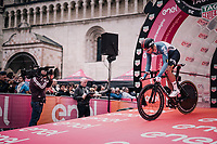 Jens Debusschere (BEL/Lotto-Soudal)<br /> <br /> stage 16: Trento &ndash; Rovereto iTT (34.2 km)<br /> 101th Giro d'Italia 2018