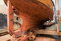 underside of boat while in drydock