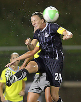 Abby Wambach #20 of the Washington Freedom during a WPS match against the Philadelphia Independence on August 4 2010 at the Maryland Soccerplex, in Boyds, Maryland. Freedom won 2-0.