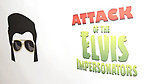 Signage at the Press preview for 'Attack of the Elvis Impersonators'  at Shelter Studios on May 22, 2017 in New York City.