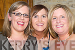 SMILES: Great smiles at the Knocknagree GAA Social at The Earl of Desmond Hotel, Tralee on Saturday night by Catherine O'Halloran, Christina Riordan-Fleming and Fiona O'Halloran..   Copyright Kerry's Eye 2008