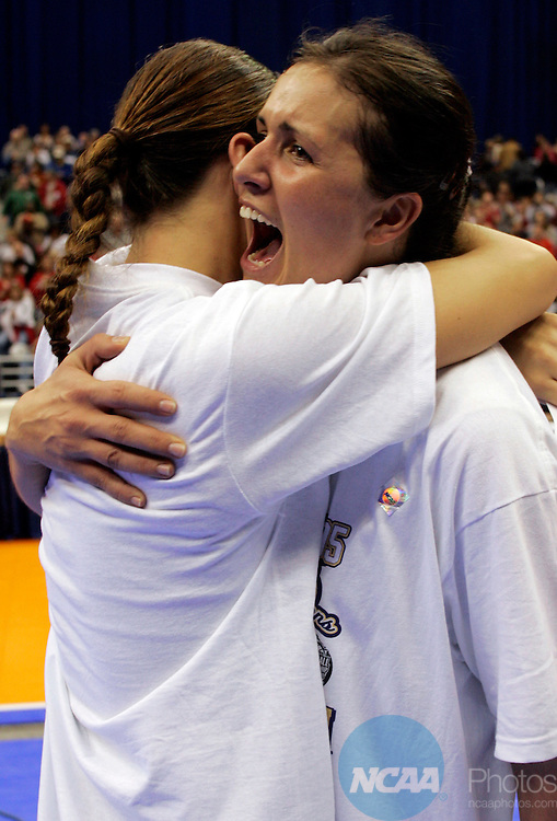 17 DEC 2005:  Sanja Tomasevic (21) of the University of Washington celebrates the Huskies victory over the University of Nebraska during the Division I Women's Volleyball Championship held at the Alamodome in San Antonio, TX.   Washington defeated Nebraska 3-0 to win the national title.  Jamie Schwaberow/NCAA Photos