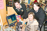 SAFETY ONLINE: A seminar on Internet Safety will be held for parents at Tralee Library on Saturday. Pictured are students Cathal Carlos and Gary O'Carroll with librarian, Aileen Lynch.