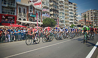 Vegard Breen (NOR/Lotto-Belisol) & Adam Hansen (AUS/Lotto-Belisol) lead out for André Greipel (DEU/Lotto-Belisol) with 2km to go<br /> <br /> Tour of Turkey 2014<br /> stage 7