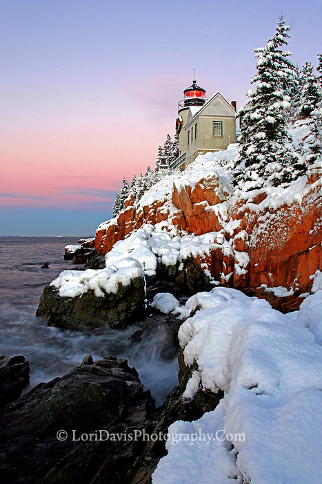 #LH15  Winter sunrise at Bass Harbor Head Light