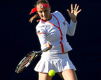 Agnes Szavay (HUN) against Olga Govortsova (BLR) in the first round of the women's singles. Agnes Szavay beat Olga Govortsova 3-6 6-2 7-6..International Tennis - 2010 Sony Ericsson WTA Tour - AEGON International - Devonshire Park Lawn Tennis Centre - Eastbourne - Day 1 - Mon 14 Jun 2010..© FREY - AMN Images - Level 1, 20-22 Barry House, 20-22 Worple Road, London, SW19 4DH.Tel - +44 (0) 208 947 0100.Email - mfrey@advantagemediannet.com.web - www.advantagemedianet.com