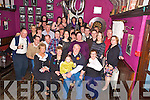 Anthony O'Mahony, Tulligmore, Killorglin, pictured with family and friends as he celebrated his 70th birthday in The Fishery, Killorglin, on Saturday night.