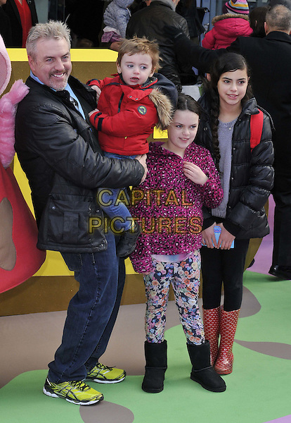 LONDON, ENGLAND - FEBRUARY 01: Donal MacIntyre &amp; his children attend the &quot;Peppa Pig: The Golden Boots&quot; UK film premiere, Odeon Leicester Square cinema, Leicester Square, on Sunday February 01, 2015 in London, England, UK. <br /> CAP/CAN<br /> &copy;Can Nguyen/Capital Pictures