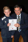 St Johnstone FC Academy Awards Night...06.04.15  Perth Concert Hall<br /> Chairman Steve Brown presents a certificate to Fraser Armstrong<br /> Picture by Graeme Hart.<br /> Copyright Perthshire Picture Agency<br /> Tel: 01738 623350  Mobile: 07990 594431