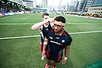 New Zealand Legends vs HSBC Penguins during Day 2 of the GFI HKFC Tens 2012 at the Hong Kong Football Club on March 22, 2012. Photo by Felix Ordonez / The Power of Sport Images for HKFC