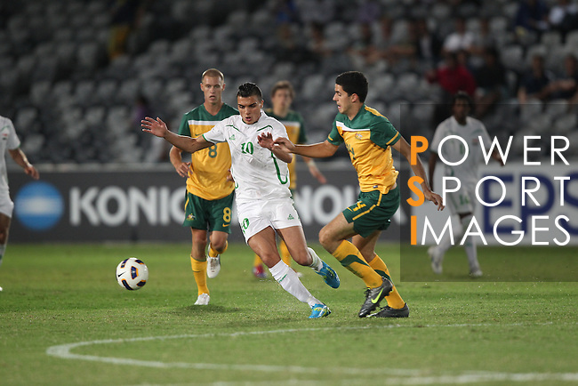 Australia vs Iraq during the Olympic Qualifying 2012 Group B stage match on March 14, 2012 at the Central Coast Stadium in Gosford, Australia. Photo by World Sport Group