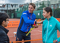 The Hague, The Netherlands, September 13, 2017,  Sportcampus , Davis Cup Netherlands - Chech Republic, Streettennis with Paul Haarhuis<br /> Photo: Tennisimages/Henk Koster