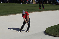 J.B. Holmes (Team USA) on the 3rd Fairway bunker during the Friday afternoon Fourball at the Ryder Cup, Hazeltine national Golf Club, Chaska, Minnesota, USA.  30/09/2016<br /> Picture: Golffile | Fran Caffrey<br /> <br /> <br /> All photo usage must carry mandatory copyright credit (&copy; Golffile | Fran Caffrey)