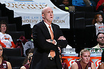 25 February 2016: Virginia Tech head coach Dennis Wolff. The Wake Forest University Demon Deacons hosted the Virginia Tech Hokies at Lawrence Joel Veterans Memorial Coliseum in Winston-Salem, North Carolina in a 2015-16 NCAA Division I Women's Basketball game. Virginia Tech won the game 54-48.
