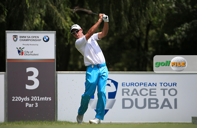 Jaco Van Zyl (RSA) claws back 4 birdies during Round Three of the 2016 BMW SA Open hosted by City of Ekurhuleni, played at the Glendower Golf Club, Gauteng, Johannesburg, South Africa.  09/01/2016. Picture: Golffile | David Lloyd<br /> <br /> All photos usage must carry mandatory copyright credit (&copy; Golffile | David Lloyd)