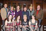 Christmas: The Shanakill Resourse Centre on a break for Christmas who went to The Grand Hotel, Tralee to mark the occasion. Front l-tr: Jennifer O'Carroll, Tresa Walsh, Regina O'Connor and Sharon Looney. Back l-r: Brendan Leahy, Bernie O'Carroll, Marian Moore, Peter Landy, Ann Conway-Hurley and Pat O'Carroll.. ....