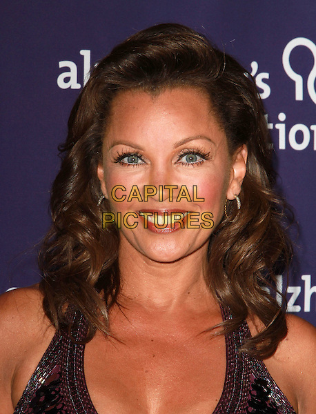 "VANESSA WILLIAMS .19th Annual ""A Night at Sardi's"" Benefiting the Alzheimer's Association held at the Beverly Hilton Hotel, Beverly Hills, California, USA, 16th March 2011..portrait headshot black smiling  sequined sequin  eyelashes .CAP/ADM/KB.©Kevan Brooks/AdMedia/Capital Pictures."
