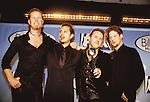 Metallica 1998 James Hetfield, Kirk Hammett, Lars Ulrich and Jason Newsted at Billboard Awards