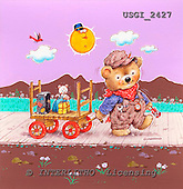 GIORDANO, CUTE ANIMALS, LUSTIGE TIERE, ANIMALITOS DIVERTIDOS, Teddies, paintings+++++,USGI2427,#AC# teddy bears