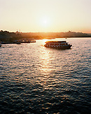 TURKEY, Istanbul, view of the Bosporus with ferry at sunset