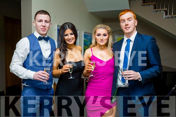 Enjoying the Austin Stacks GAA Social in the Ballyroe Heights Hotel on Saturday night were Darragh O'Brien, kaley Quirke, Rachel Lynch, Shane O'Callaghan