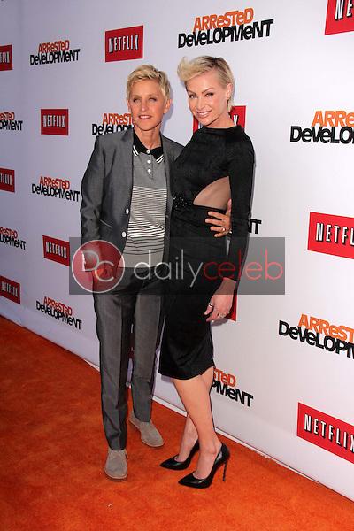 "Ellen Degeneres, Portia de Rossi<br /> at the ""Arrested Development"" Los Angeles Premiere, Chinese Theater, Hollywood, CA 04-29-13<br /> David Edwards/DailyCeleb.Com 818-249-4998"