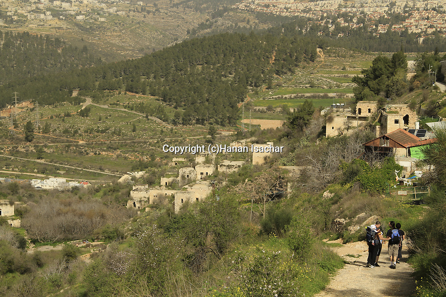 Israel, Jerusalem mountains, Abandoned Palestinian village in Jerusalem