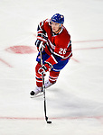 24 September 2009: Montreal Canadiens' defenseman Josh Gorges in action against the Boston Bruins at the Bell Centre in Montreal, Quebec, Canada. The Bruins edged out the Canadiens 2-1 in an overtime shootout of their pre-season matchup. Mandatory Credit: Ed Wolfstein Photo