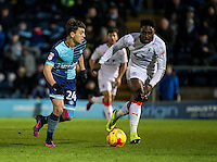 Scott Kashket of Wycombe Wanderers during the Sky Bet League 2 match between Wycombe Wanderers and Luton Town at Adams Park, High Wycombe, England on the 21st January 2017. Photo by Liam McAvoy.